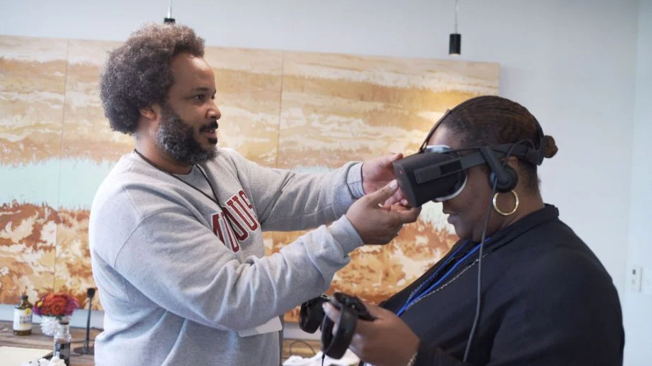 An XR experience from the inaugural Crux unconference. (Photo courtesy CRUX)